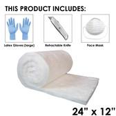 "UniTherm Ceramic Fiber Blanket, 1"" x 12"" x 24"", 6lb"
