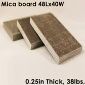 """UniTherm Mica Board Insulation Sheet, 0.25"""" Thick, 48"""" x 40"""""""