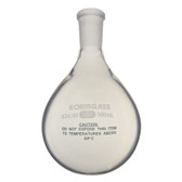 Chemglass Glass Evaporation Flask 24/40 OJ, Plastic Coated, 50mL
