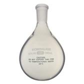 Chemglass Glass Evaporation Flask 24/40 OJ, Plastic Coated, 100mL