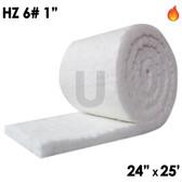 """Ceramic Fiber Blanket, HZ, 6lb, 1"""", 24"""" x 25'"""