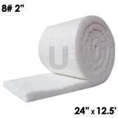 """Ceramic Fiber Blanket, 8lb, 2"""", 24"""" x 12.5'"""