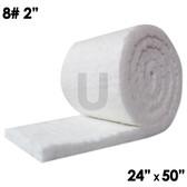 """Ceramic Fiber Blanket, 8lb, 2"""", 24"""" x 50"""""""