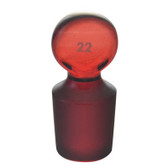 Chemglass Stopper #22 Low Actinic Red Stained Glass