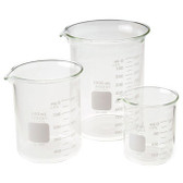 Chemglass Griffin Beaker Assortment Pack, Low Form Graduated Pyrex Glass Beaker