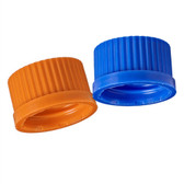 Solid Polypropylene Cap, GL32, Blue, case/10