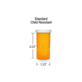 Amber Pharmacy Vials, Child Resistant Caps, 13 dram (3/4 oz)