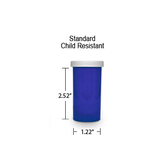 Blue Pharmacy Vials, Child Resistant Caps, 13 dram (3/4 oz)