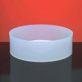"Dynalon 109814 Round Lab Tray, HDPE, 15 x 3"", 8.7 Liter"