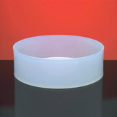 "Dynalon 109824 Round Lab Tray, HDPE, 18 x 4"", 16.7 Liter"