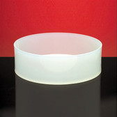 "Dynalon 109844 Round Lab Tray, Polypropylene, 10 x 3"", 3.9 Liter"