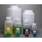 1.5 Liter Lab Bottle, LDPE, Wide Mouth Rounds, case/3