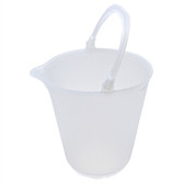 Plastic Bucket, Graduated Pail, Polypropylene, 15 L, case/4
