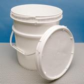 Dynalon 413534 Pail with Screw-on Lid, 3.5 gallon, case/6