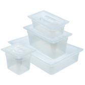 Dynalon Pan, Translucent Tote, Lid, Polypropylene, 9.4 Qt, case/6