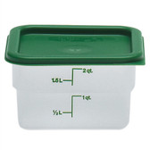 Dynalon Containers, Square, Graduated, PP, 2 Qt, case/6