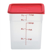 Dynalon Containers, Square, Graduated, PP, 8 Qt, case/6
