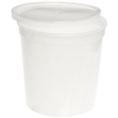 "Dynalon Containers, Covers, 83oz (2200mL) 6.5 x 6.5"", case/25"