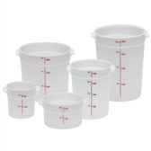 Dynalon Containers, Round, Graduated, PP, 8 Qt, case/12