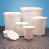 Dynalon 454445 Containers, Disposable with Cover, White 165oz, case/25