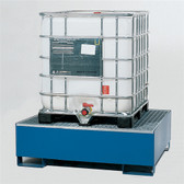 Denios 1-Tote IBC Containment Dispensing Platform, Single IBC, Painted Steel