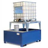 Denios 1-Tote IBC Dispensing Platform, Stand, Single IBC Pallet, Painted Steel