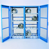 Denios Gas Bottle & Cylinder Storage Cage - Double, Horizontal 16 cylinder