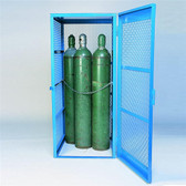 Denios Gas Bottle & Cylinder Storage Cage - Single, Vertical 5-10 cylinder