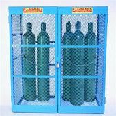 Denios Gas Bottle & Cylinder Storage Cage - Double, Vertical 10-20 cylinder