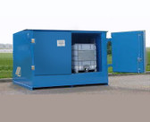 Denios 2-Tote IBC Containment Locker, Fire Rated