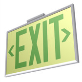 EcoGlo Glow in the Dark EXIT Sign, Double-Sided, Framed, 75ft