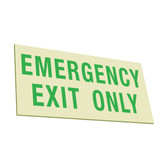EcoGlo Glow in the Dark Emergency Exit Sign, One-Sided, Unframed
