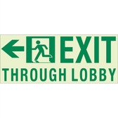 EcoGlo Glow in the Dark Custom Exit sign, 1-Sided, Unframed