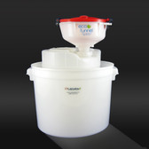 "8"" ECO Funnel, System, 5 gal, 70mm Cap, Secondary Container"