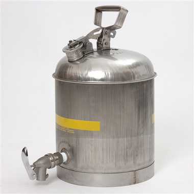 Eagle 1327 5 Gallon Faucet Can Stainless Steel Safety Can