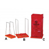Biohazard Bag Stand, Large, with 100 Autoclavable Bags