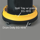 Eagle 1615 EAGLE Drum Tray with Grating (Wheels Not Included)