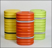 """Eagle 1706OR 6"""" Column Protector, Orange with Reflective Bands"""