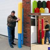 "Eagle 1730-72 Bollard Covers, 6"" x 72"" Bumper Post Sleeve, Ribbed 72"" Extra Long Yellow"