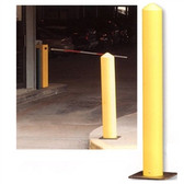 "Eagle 1733 Poly Bollard Post, 7"" Round Yellow With Poly Base"