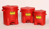 Eagle 6 gal Eagle Polyethylene Oily Waste Can, Foot Lever, Choose Color