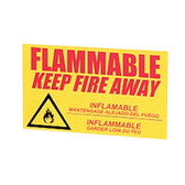 "Eagle C-97 Decal ""Keep Fire Away"" Label for Flammable Safety Cabinets, Large"