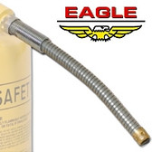 "Eagle FD-25-S x 5 Replacement flexible 12"" x 5/8"" metal spout for Eagle Type II Safety Cans"