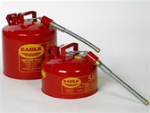 "Eagle U2-26-S Type II Safety Can, 2 gallon EAGLE Red with 7/8"" O.D. Flexible Spout"