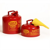 Eagle UI-10-FS Type I Safety Can, 1 Gallon Eagle Metal With Polyethylene Funnel