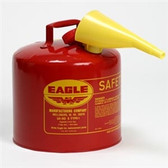Eagle UI-50-FS Type I Safety Can, 5 Gallon Eagle Metal With Polyethylene Funnel