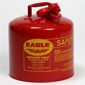 Eagle UI-50-S Type I Safety Can, 5 Gallon Eagle, Steel Construction