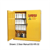 Eagle YPI-30 Combustible Cabinet, 40 gallon EAGLE w/ 1 door self-closing, Yellow