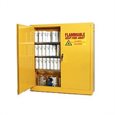 Eagle YPI-3010 Combustible Cabinet, 40 gallon EAGLE w/ 2 door self-closing, Yellow