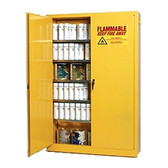 Eagle YPI-4510 Combustible Cabinet, 60 gallon EAGLE w/ 2 door self-closing, Yellow